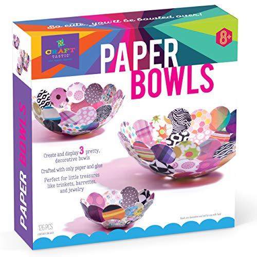 Craft-tastic - Paper Bowl Kit - Craft Kit Makes 3 Different-Sized Decorative Bowls