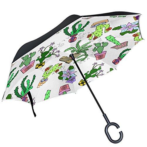 100% de garantía de satisfacción auténtico gran colección ALAZA Cactus suculentas paraguas invertido de flores doble ...