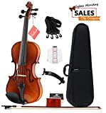 [CYBER MONDAY SALE] Aileen Solidwood Ebony Violin Outfit with Case, Rosin, Strings, Shoulder Rest, Fingerboard Sticker (1/4)