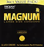 Trojan Condom Magnum Lubricated, Large size 36s