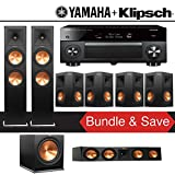 Klipsch RP-280F 7.1-Ch Reference Premiere Home Theater System with Yamaha AVENTAGE RX-A2070BL 9.2-Channel Network AV Receiver