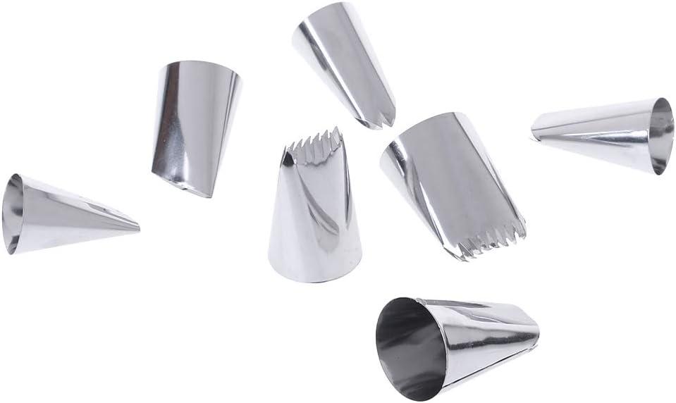 Lot de 15 douilles /à p/âtisserie en acier inoxydable pour d/écoration de g/âteaux