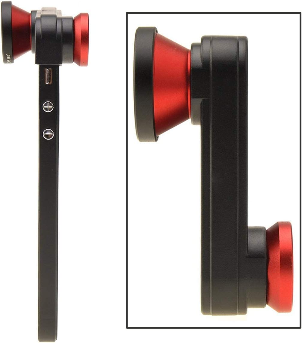 iPhone 5s Red 180/° Fish Eye Lens+Wide Angle Lens+Macro Lens 3-in-1 Kit for Apple iPhone 5