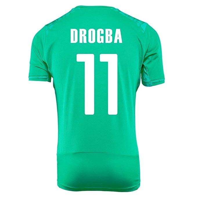 huge discount dfffa 36234 Amazon.com: PUMA DROGBA #11 IVORY COAST AWAY JERSEY WORLD ...