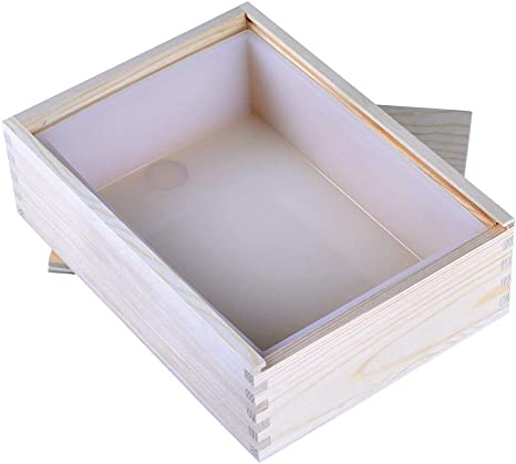 Molde de pan hecho a mano blanco de molde de jabón de silicona de rectángulo de Nicole con caja de madera