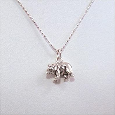 Amazon bear pendant sterling silver necklace jewelry bear pendant sterling silver necklace aloadofball Images
