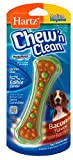 HARTZ Chew 'n Clean Dental Duo Bacon Flavored Dog Chew Toy - Medium