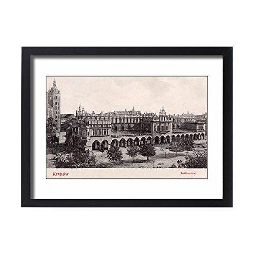 Framed 24x18 Print of Krakow, Poland - Renaissance Cloth Hall - Main Market Square (11563056) (Renaissance Collection Wall Bracket)