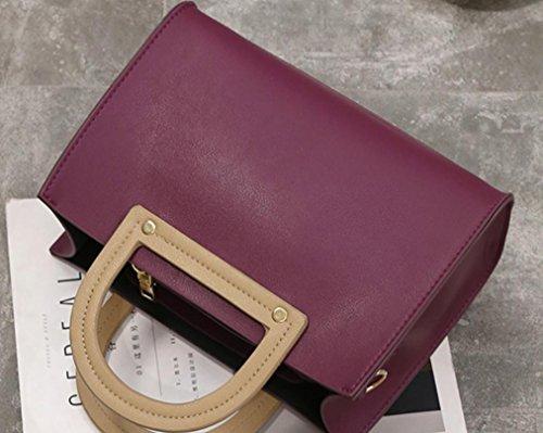 YCMDM donne pacchetto della spalla di modo Borsa retrò Borsa Messenger Portable Piccola Piazza Borsa , purple