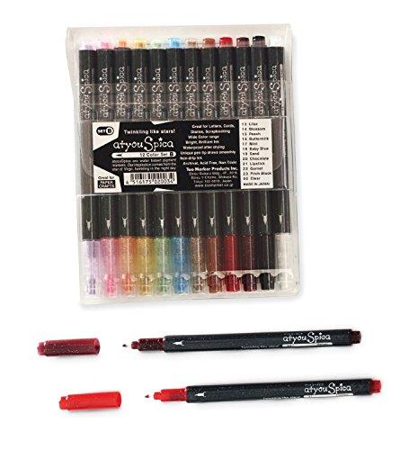 Glitter Pen Spica New 12/Clr from COPIC/IMAGINATION INTERNL
