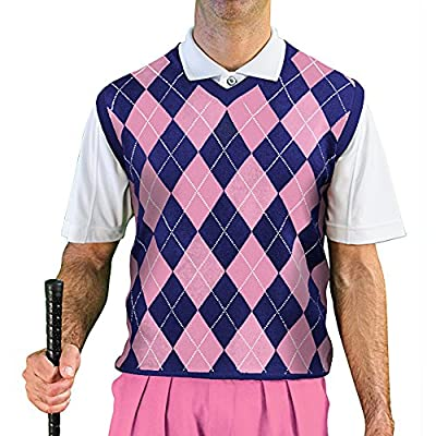 V-Neck Argyle Golf Sweater