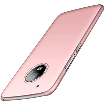 anccer Funda Moto G5 Plus Case [Serie Colorida] [Ultra Delgado] [Anti-Drop] ultrafin Premium Carcasa (Oro Rosa Liso)