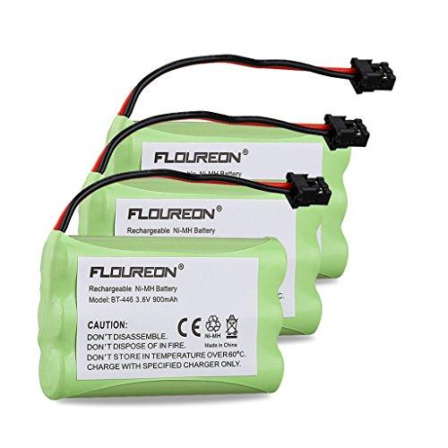Floureon 900mAh Cordless Phone Battery for Uniden BT446 BT-446 BP446 BT1005 BT-1005, TRU5865-2, TCX-905, TRU8885, TRU8885-2, TRU88852, TRU8888, TRU9460, TRU9465, TRU9480, TCX-800, TXC-146, TXC-400, TXC-580, TXC-860A, UIP1868, UIP1868-8, UIP18688, Wham, BBTY0457001, BBTY0458001, Radio Shack 43-3571 (Cordless Phone Battery Bt446)