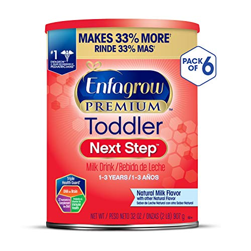 Enfagrow PREMIUM Next Step Toddler Milk Drink Powder, Natural Milk Flavor, 32 Ounce (Pack of 6), Omega 3 (Best Formula Milk For 1 Year Old Baby)