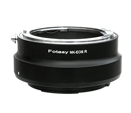 Fotasy Nikon Lens to Canon EOS R Full Frame Mirrorless Camera Adapter, fits  on EOS R/EOS RP