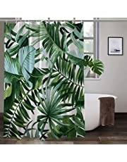Savuu Shower Curtains for Bathroom Decor, Bath Curtains with 12 Hooks,Waterproof Long Polyester Fabric Washable Reusable