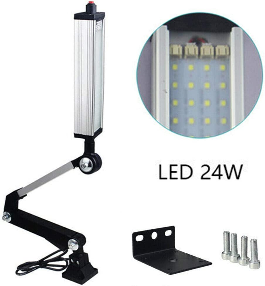 Machine Light 24W 310Mm,Led Light for Milling Lathe Router Machine Industrial Work Lighting Flexible Bench Knee Mill Waterproof Lamp