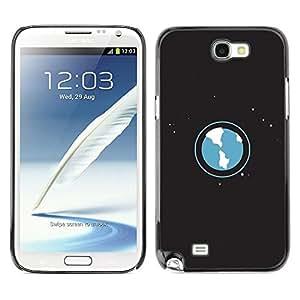[Neutron-Star] Snap-on Series Teléfono Carcasa Funda Case Caso para Samsung Note 2 N7100 [Ambientación Arte Planeta Tierra Universo Estrellas Espacio]