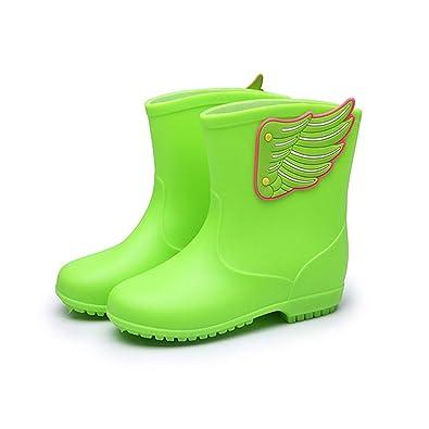 74ba63a2b8f10  SUPERMOOM  キッズ 長靴 雨靴 レインブーツ 可愛い キッズ レインシューズ 羽根付き 子供用