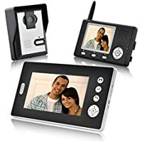 Lightinthebox Wireless HD Video Door Phone with Dual Receivers CMOS Wall Mounting