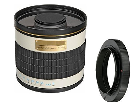 500mm f/6.3 Manual Focus Telephoto Mirror Lens For Canon EOS Rebel T6s, T6i, SL1, T5, T5i, T4i, T3, T3i, 70D, 60D, 60Da, 50D, 40D, 30D, 7D, 6D, 5D, 5DS, 5DS R, 1D Digital SLR Camera