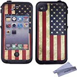 Wisdompro® Colorful Decorative Vinyl Decal Skin Stickers for Lifeproof iPhone 4/4s Case (Vintage Flag)