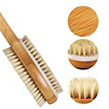 Gangglis Bamboo Face Massager 1 Brush With 2 Brush Bath Body White Shower In Boar