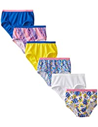 Fruit of the Loom Little Girls' Assorted Brief (Pack of 6)