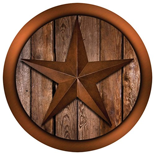 Thirstystone Stoneware Coaster Set, Western Star on Barnwood