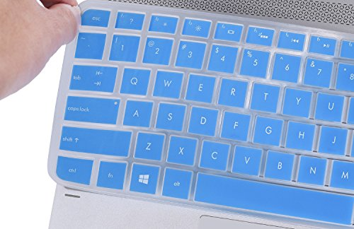 Keyboard Protector Skin Cover for Old Version HP Spectre x360 2-in-1 13.3 Touch-Screen Laptop (Blue II)