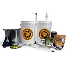 Northern Brewer - Brew. Share. Enjoy. Homebrew 5 Gallon Beer Brewing Starter Set Recipe Kit and Brew Kettle (Block Party Amber)
