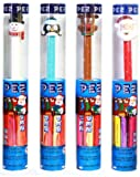 Holiday Pez Dispenser Bundle of 4 Tubes: Snowman, Reindeer, Santa, Penguin