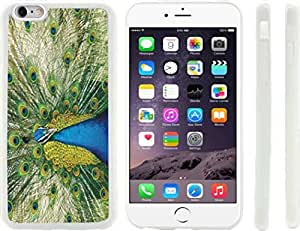 Rikki KnightTM Peacock Design iPhone 6 Plus Case Cover (Clear Rubber with raised front bumper protection) for Apple iPhone 6 Plus
