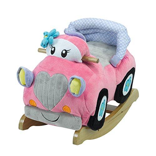 Rockabye Carli Convertible Car Rocker, Pink, 24 x 17 - Rocker Convertible