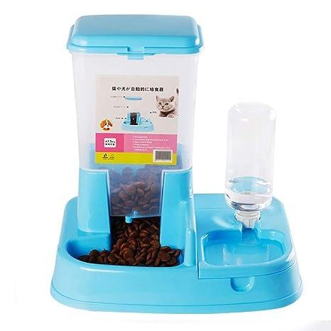 Rong pet Dispensador de Agua para Mascotas Alimentador automático para Mascotas Gato y Perro Alimentación de