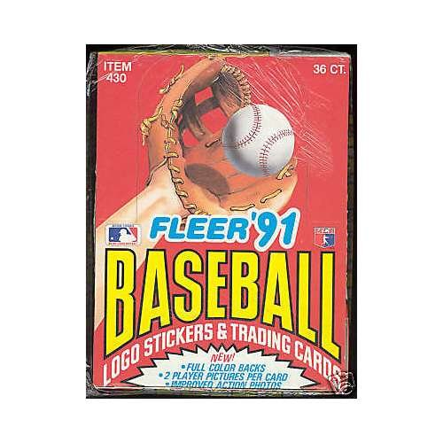 [1991 Fleer Baseball Wax Pack Box Card Set FACTORY SEALED] (1991 Donruss Baseball)