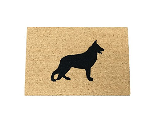 German Shepherd Silhouette Doormat (18