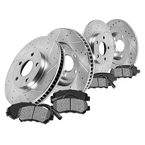 - Callahan CDS02568 FRONT 280mm + REAR 269.748mm D/S 5 Lug [4] Rotors + Metallic Pads + Clips [ Pt Cruiser Neon Srt-4 ]