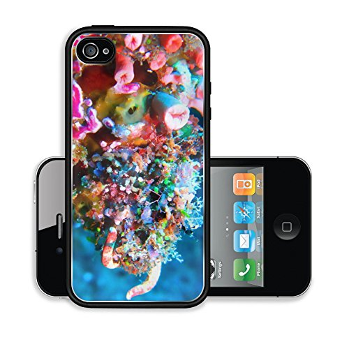 iPhone 4 4S Case 036 Soft Coral Melee with Fingers Image 9362108679
