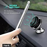 Car Phone Holder HAVIT Universal Suction Mount 360° Rotatable on Dashboard & Windshield for Smartphones/Mobile Phones, Mini Tablets (Silver)