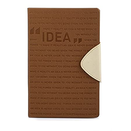 Doodle Idea Motivation A5 Size Diary, 80GSM (Brown) Diaries at amazon