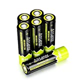 Ansanor For Samsung INR18650-25R 18650 Battery 2500mAh 3.7v, Rechargeable Flat Top Battery [6pcs]
