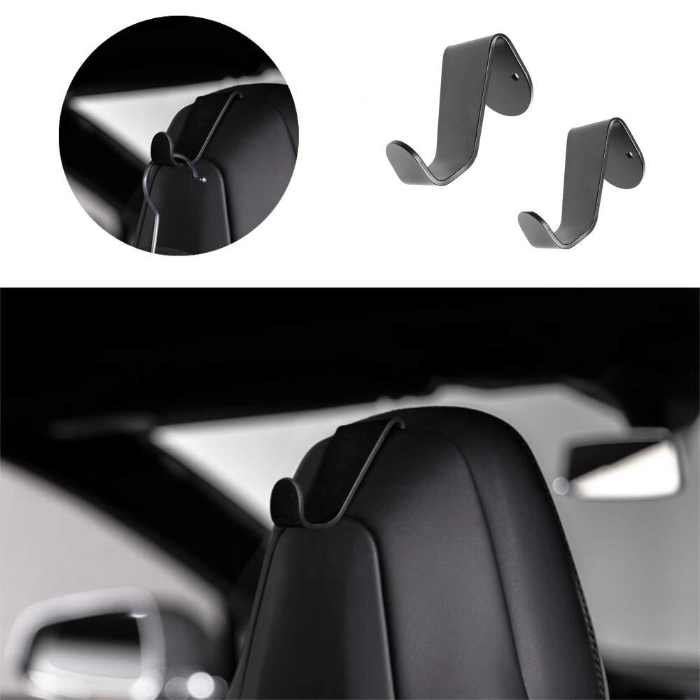 Anodized Aluminum Designed DEF Coat Hooks Hanger for Tesla Model X Model S Set of 2