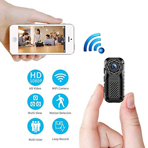 Spy Camera Wireless Hidden WiFi Home Security Nanny Cam 1080P HD Live Stream Video Recorder with Motion Detection Night Vision Loop Recording Remote View