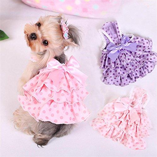 Amazon.com : PetsLove Pet Dresses Doggie Skirt Princess Costume Cat Clothes Dog Dress Apparel Pink XL : Pet Supplies