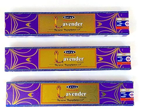 Natural Lavender Incense Lot of 3 Packs Handmade in India.