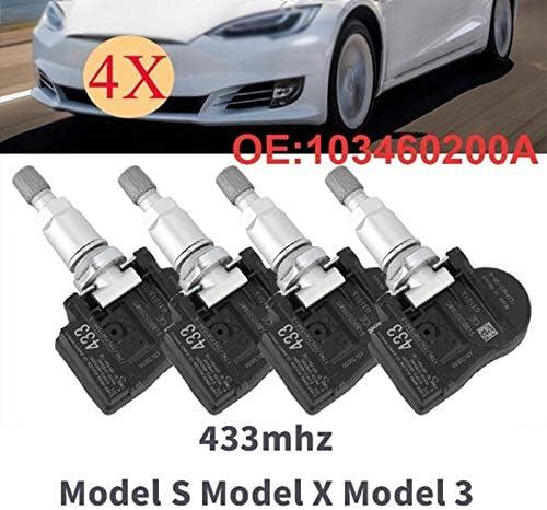 Cavis 1 Juego de 4 Sensores de Presi/óN de Neum/áTicos TPMS 433Mhz para Tesla Modelo S Modelo X Modelo 3 1034602-00-A 103460200A