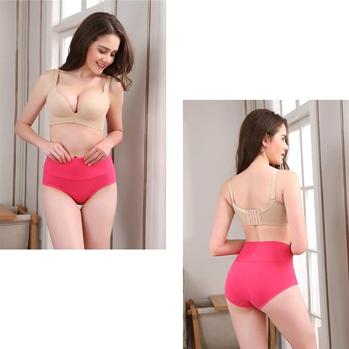 bcd7c51d4bd3 U Angela Women's Cotton Underwear High Waist Panties Plus Size Briefs Panty  -6 Pack at Amazon Women's Clothing store: