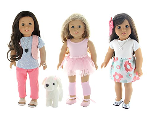 """13 Piece Lot Doll Clothes Set, Fits 18"""" /or American Girl"""