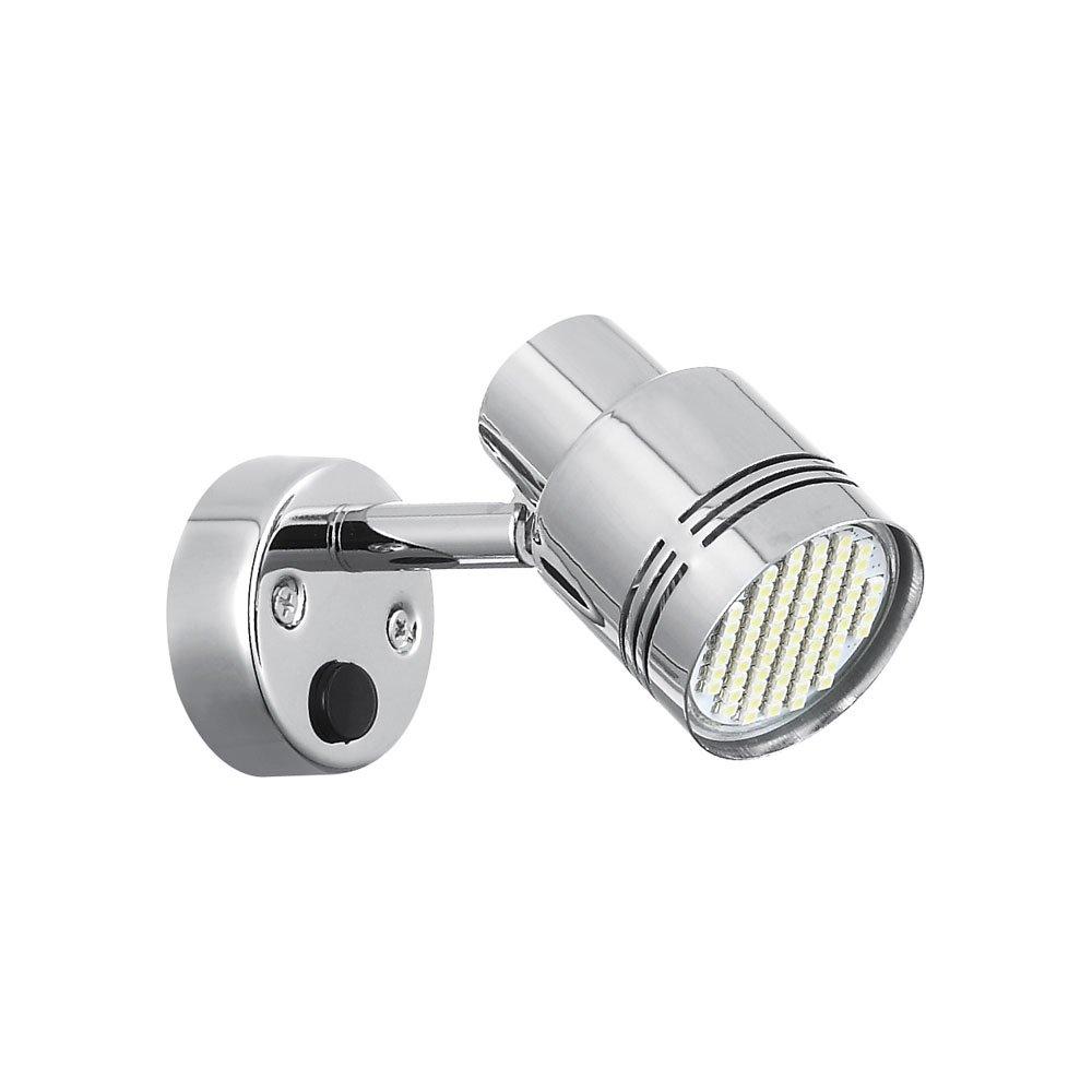 Mings Mark 9090108 Stylish Camping 12V LED Reading Light Fixture-Brushed Nickel